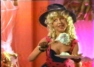 Eating her curds and way over-acting (Pia Zadora)