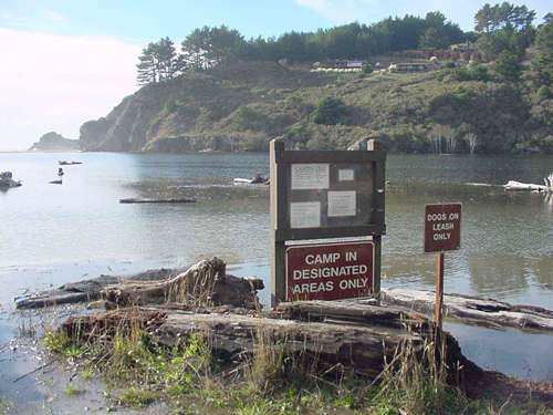 The mouth of the Navarro River, northern California.