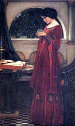 "Waterhouse's ""The Crystal Ball"""