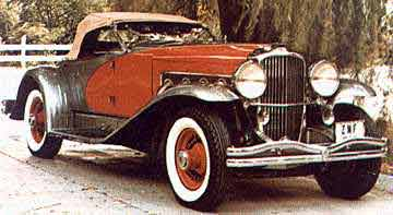A 1936 Duesenberg.  Click to visit the Deusenberg Motors site.
