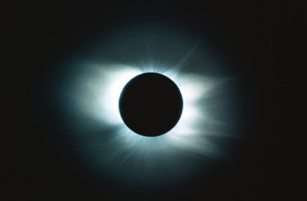 An eclipse.  Remember what your teachers always said -- don't look directly at it!