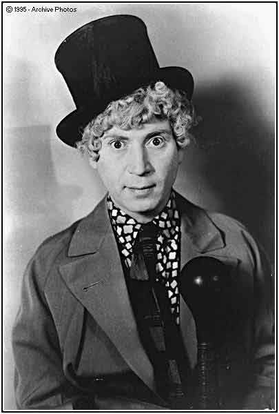 Harpo and his horn.