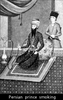 A Persian prince with pipe