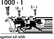 The odds on racing.  Click to visit the site from which the image came.  You will be surprised.