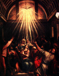 Pentecost, or the descent of the Holy Spirit.  Click to follow the link.