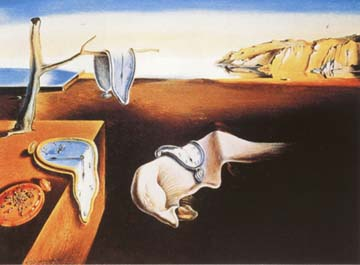 Time flows in strange directions for S. Dali