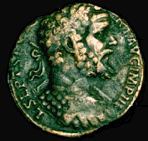Coin of the Roman emperor Septimius Severus
