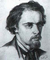 Dante Rossetti looking spiffy in a self portrait (1855).