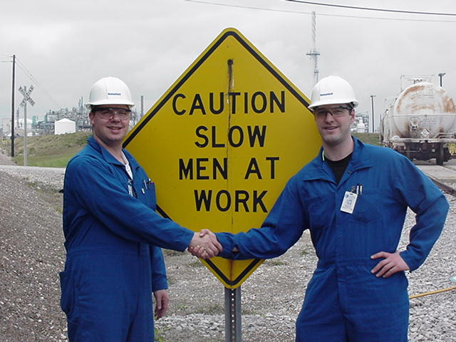 Slow men at work.