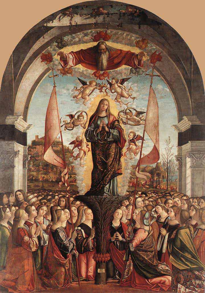 The apotheosis of St. Ursula.  Click to learn more about the legend of this saint.